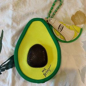 Betsey Johnson Avocado clutch purse